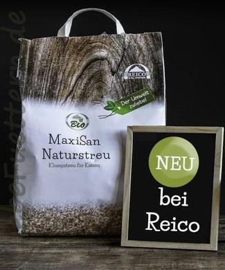 MaxiSan Katzenstreu von Reico - 100% Biologisch, das erste Katzenstreu aus Holz.