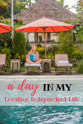 A day in my location independent life