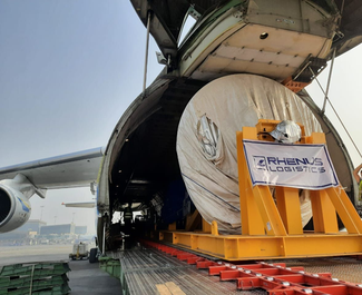 Entering the mouth of the power beast. Image: Antonov Airlines