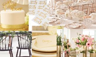 Prunkvolles Gold und Grün als Hochzeitstrend