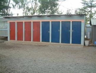 Toilettenhaus in Lerato