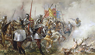 Henry V au milieu de ses hommes par John Gilbert.www.bridgemanartondemand.comart/103728/. wikimedia.org