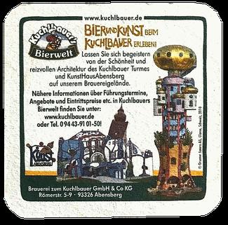 Bierdeckel mit Kuchlbauer-Turm