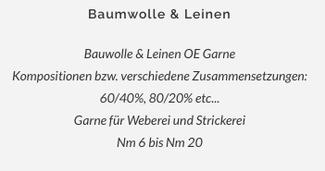 Baumwoll & Leinen Garn, Intercot S.A. / Hans Kraus Industrie-Vertretungen Albstadt Spinnerei