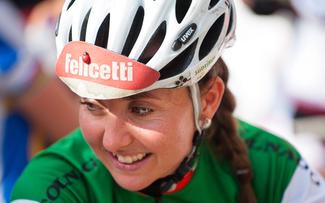 Die Südtirolerin Eva Lechner ist in Eschenbach in der Favoritenrolle © Marius Maasewerd