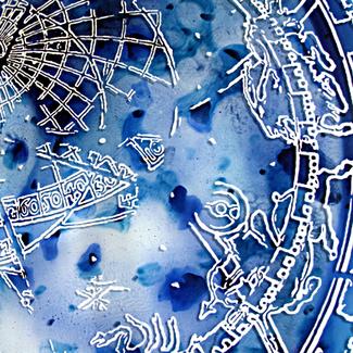 Sylvie Lander-Ex tempore-Tondo de verre-cathédrale de Strasbourg
