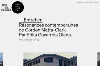 Traduction texte architecture Gordon Matta-Clark