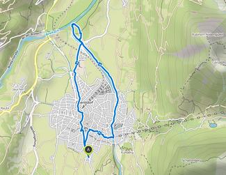 Bild: Karte der Wanderung Illerursprung in Oberstdorf
