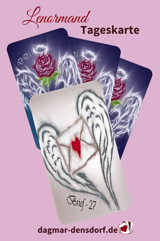 Lenormand Tageskarte Brief