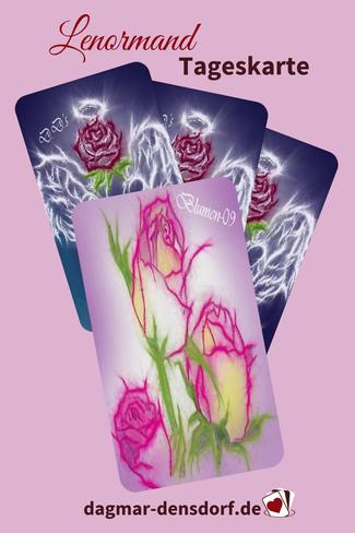 Lenormand Tageskarte Blumen