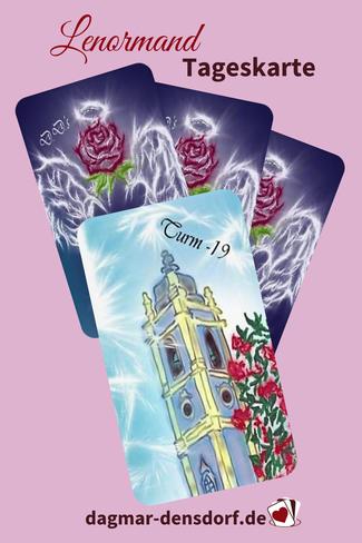 Lenormand Tageskarte Turm