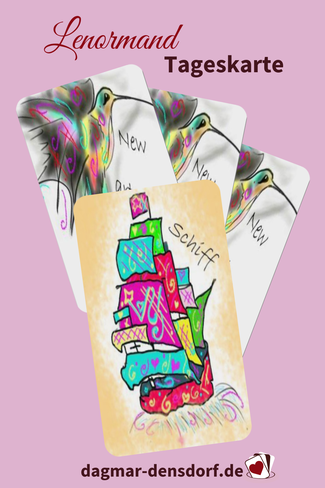 Lenormand Tageskarte Schiff