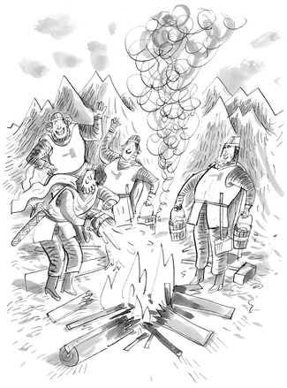 de hoofdpersonen jippie en de ridders hak