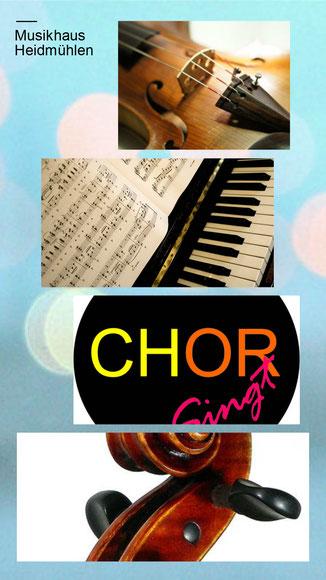 Geigenunterricht, Klavierunterricht und Chor