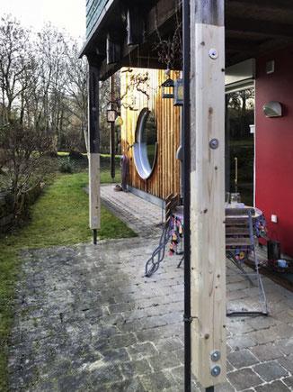 Reparatur an Holzstützen