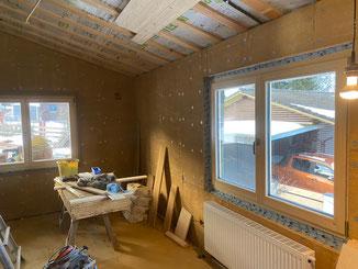 ökologischer Innenausbau mit Holz und Lehm. Ausbau mit Claytec Lehmbauplatten D20