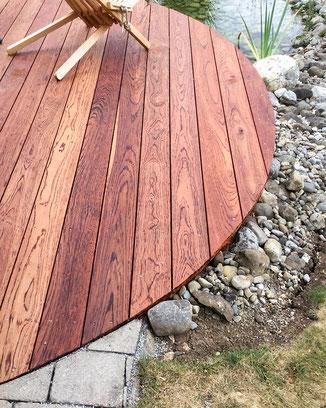 Terrassenrenovierung mit neuem Walaba-Holz