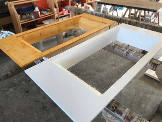 Dachfensterverkleidungen mit Holzlasur und Standölfarbe