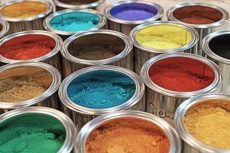 Kreidezeit Pigmente zum Abtönen von Wandfarben und Putze