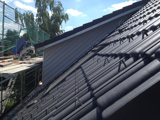 Dachgauben Verkleidung in Balingen mit Stülpschalung.
