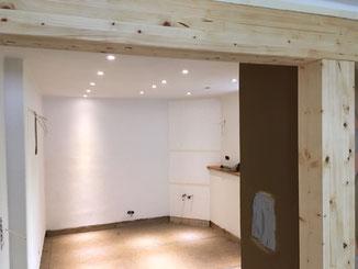 Wanddurchbruch mit Unterzug in Balingen. Räume können mit einem Wanddurchbruch vergrößert werden. Aus statischen Gründen muss eventuell ein Unterzug eingezogen werden.