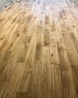 Eiche Fußboden: geklammert, mit einer geringen Aufbauhöhe von nur 3 cm