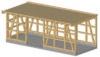 Für eine Kundin in Balingen Ostdorf erstellen wir diesen Carport. Er wird als Bausatz geliefert und vom Kunden selbst montiert.