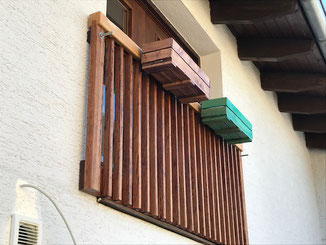 Französischer Balkon aus Holz
