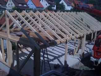 Garagen in Balingen. Nachhaltige Holzkonstruktionen - robust und langlebig.