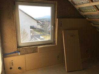 Dachgeschoss mit Holzfaser-Dämmplatten