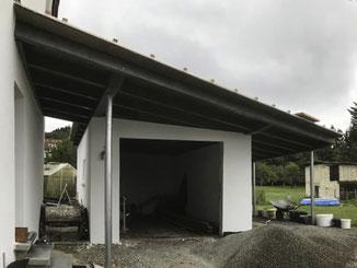 Erneuerung einer Garageüberdachung