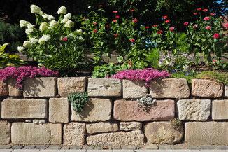 Mauer, Mauern, Sichtschutz, Windschutz, Natursteinmauer, Hangabstützung