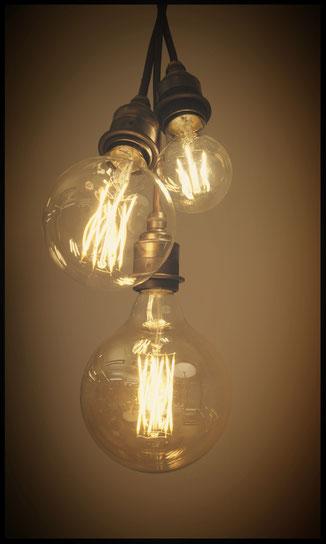 Pendelset mit Filament LED Leuchtmittel