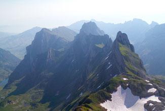 Alpstein Blick vom Altmann Nordgrat Richtung Fählentürme