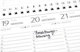 Shown is a calendar with an entered date for an application training.