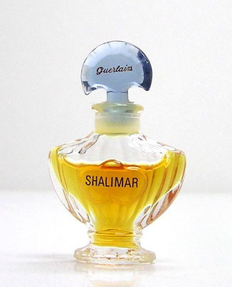 SHALIMAR - PARFUM : 3ème VERSION CONTEMPORAINE AMPHORE AVEC PIED ETROIT. MINIATURE IDENTIQUE A LA PHOTO PRECEDENTE