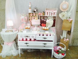 Mesa dulce para bautizos y baby shower