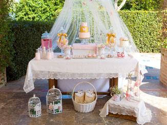 Mesa dulce para comuniones y cumpleaños