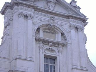Facciata della Basilica di Loreto; parte superiore