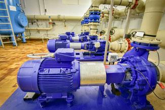 Wasseraufbereitung, Pumpen, Energieeinsparung, IE4 Motoren, Membranfiltration