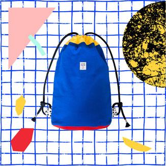 blauer Rucksack