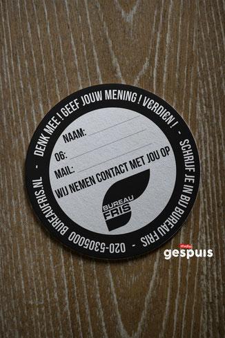 Ontwerp voor 'bierviltjes' studiogespuis.nl
