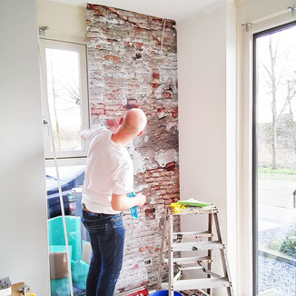 'Brickwall behang' in Purmerend studiogespuis.nl