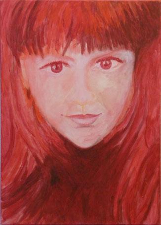 rotes Mädchen, verkauft