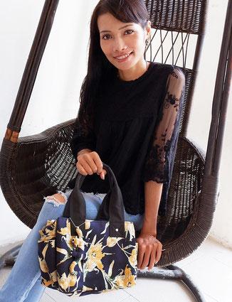 モデルをしてくれるリダさん(24歳)。日本に留学経験もあって日本語堪能です。