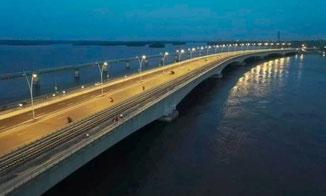 Douala, le deuxième pont sur le Wouri