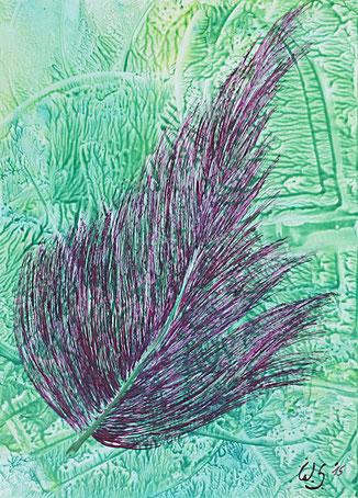 Encaustic-Bild Nr. 5.2 Papier Bienenwachs DIN A 4