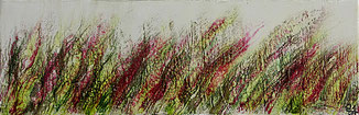Encaustic-Bild Nr. 3.3 Leinwand mixed media  (60x20cm)