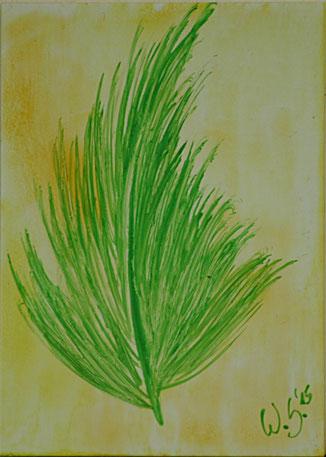 Encaustic-Bild Nr. 5.4 Papier Bienenwachs DIN A 6
