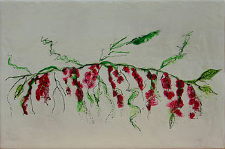 Encaustic-Bild Nr. 2.12 Holzgrund mixed media  (30x20cm)